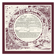 Season - Cranberry Background Ketubah