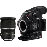 Canon EOS C100MK II with 17-55 Lens Kit (EF-S Mount)
