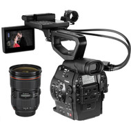 Canon EOS C300 Cinema EOS Camcorder Body with Dual Pixel CMOS AF and 24-70mm f/2.8L II USM Lens