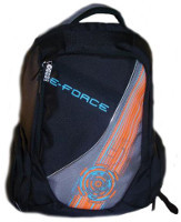 E-Force Backpack Bag Black w/Orange