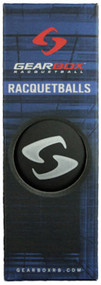 Gearbox Black Racquetballs 3 Ball Can