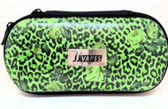 Large Zipper Case - Green Cheetah