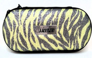 Large Zipper Case - Yellow Sparkle Zebra