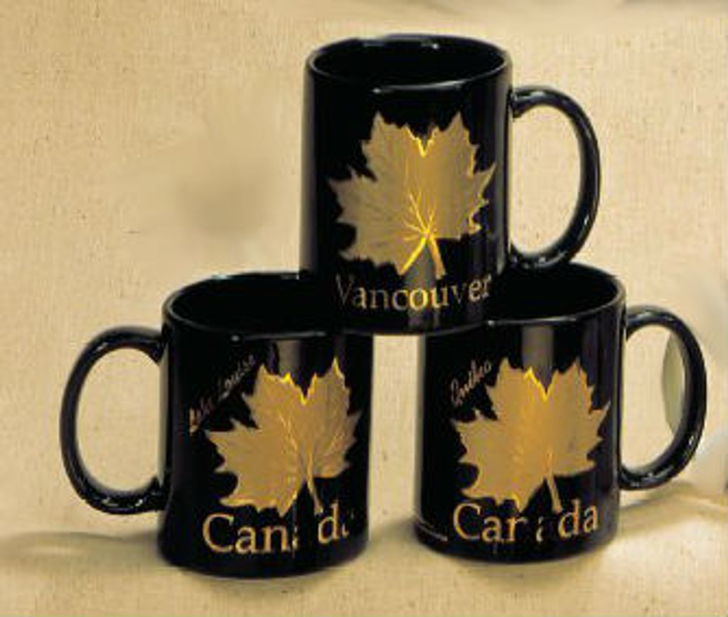 Canada True Canada Mug - Black & Gold