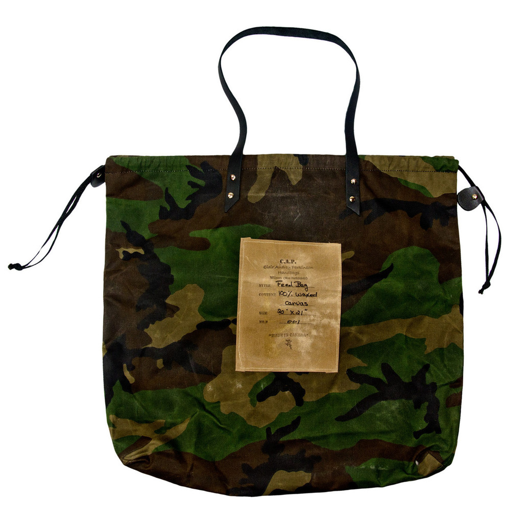 Camo Feed Bag by C.A.P. Bags by Karen Wilson