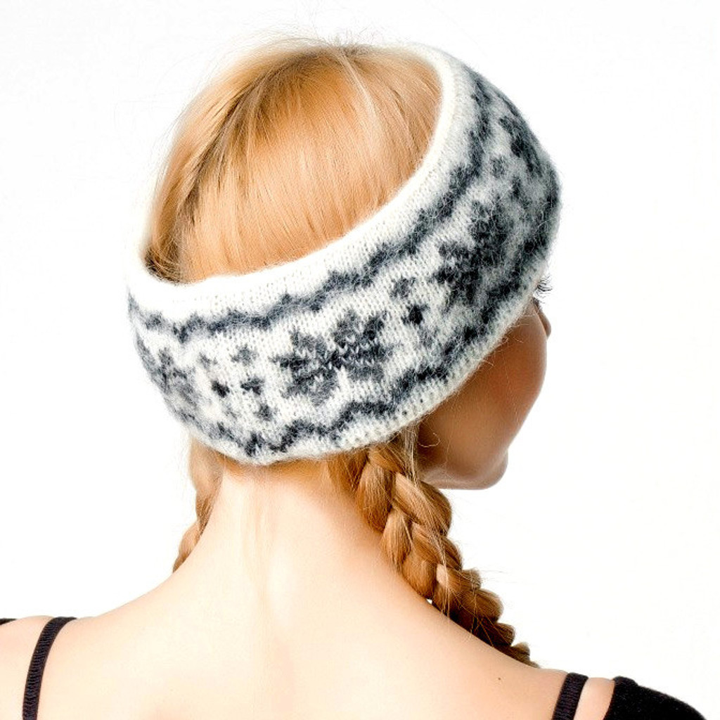 Icelandic Wool Headband (Dark Grey) by Freyja
