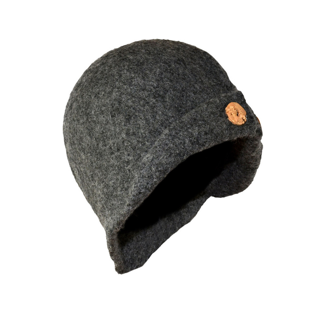 Charcoal Grey Button Cloche by Julie Sinden Handmade - Ships in Canada Only