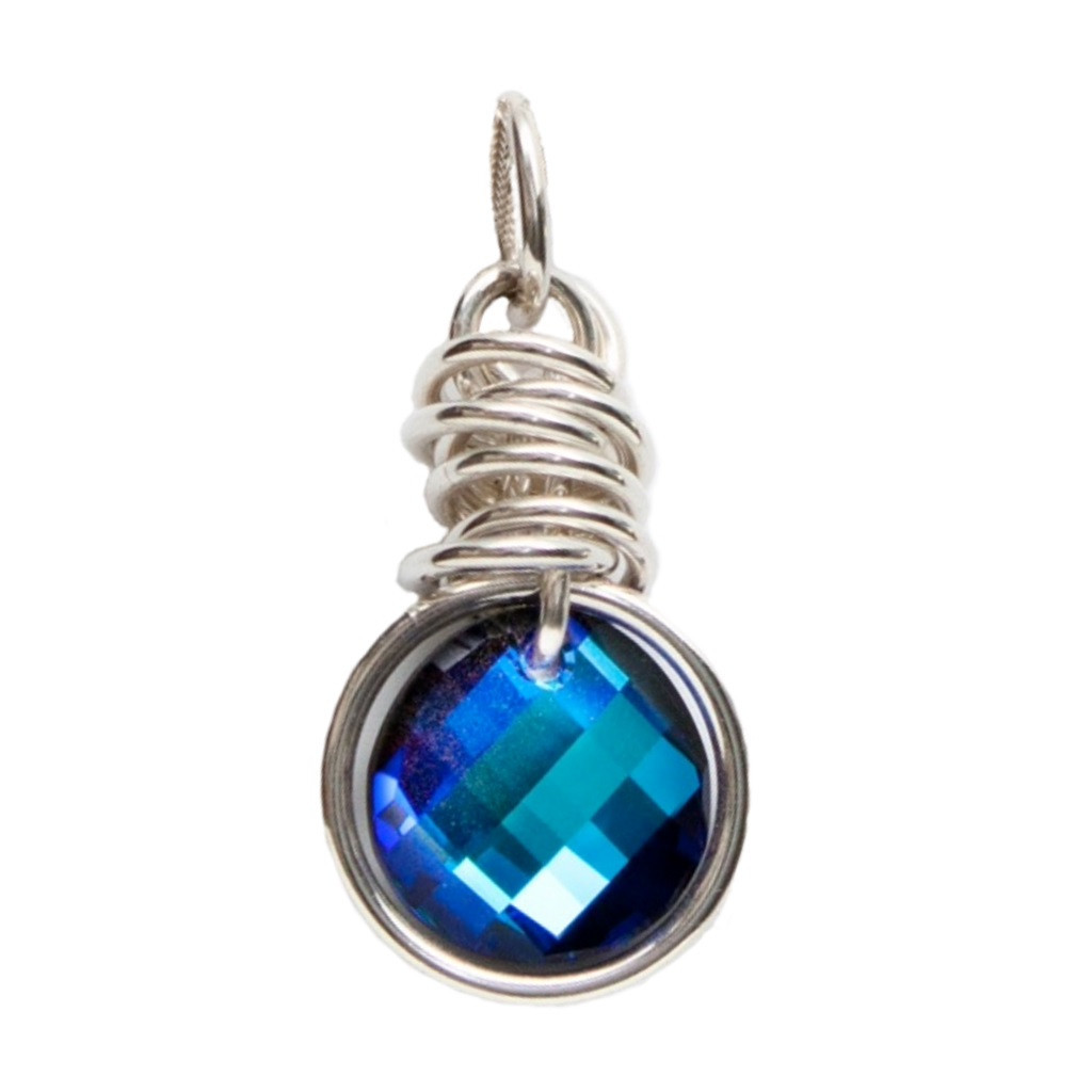 Carlu Pendant (Bermuda Blue) by Lisa Ridout Exclusive Jewellery