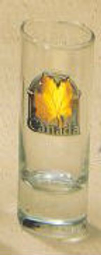 Canada True Canada Shooter - Clear w/ Pewter & Gold Medallion