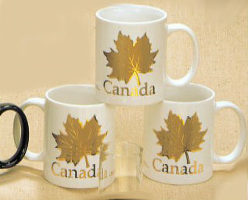 Canada True Canada Mug - White & Gold