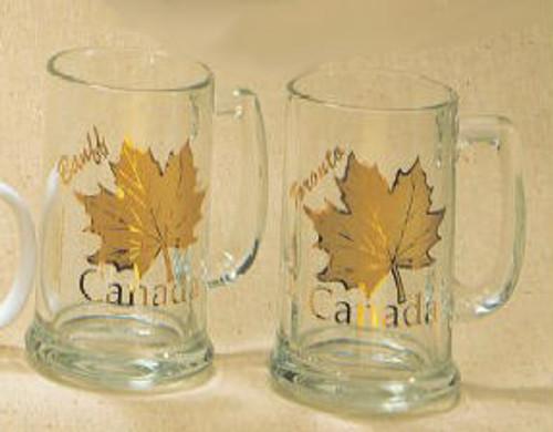 Canada True Canada Stein - Clear & Gold