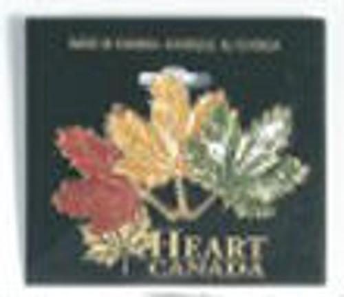 Canada True Enamelled Maple Leaf Broach - 3 Maple Leaves
