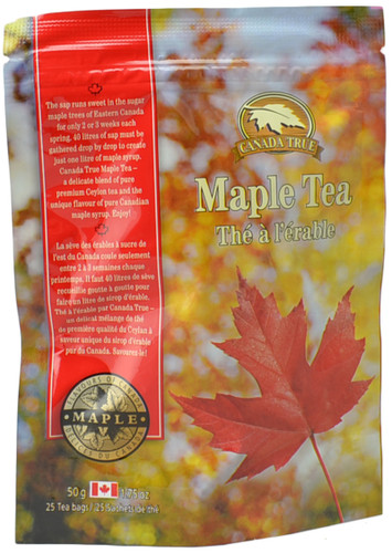 Canada True Maple Tea - Stand Up Pouch (3 Pack of 25 Bags)