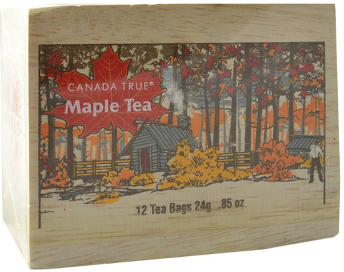 Canada True Maple Tea - Scenic Wood Box (3 Pack of 12 Bags)