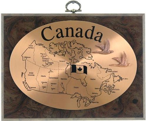 AFG Plaque - Map Of Canada