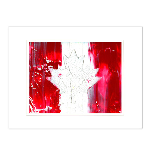 Abstract Canadian Flag Painting by Ryan O'Neill Studios