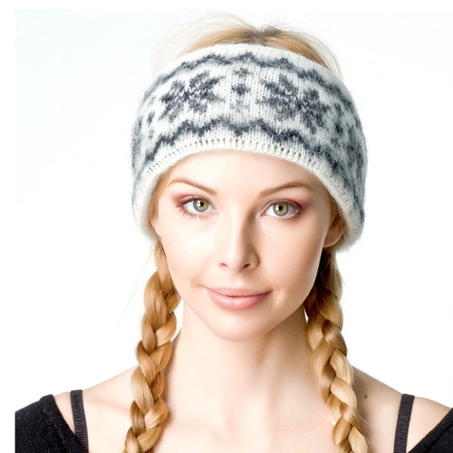 Icelandic Wool Headband (Dark Grey) by Freyja