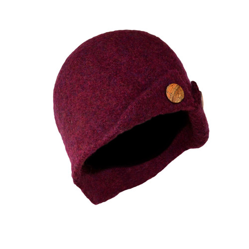 Plum Button-Up Cloche by Julie Sinden Handmade - Ships in Canada Only
