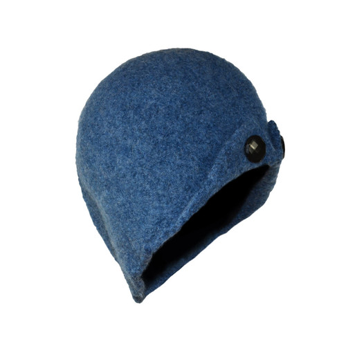 Denim Blue Button-Up Cloche by Julie Sinden Handmade - Ships in Canada Only