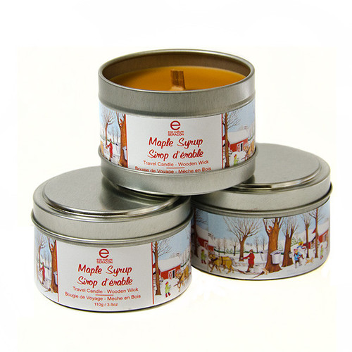 Maple Scented Travel Candles (3 Pack) by Seracon Eco-Culture