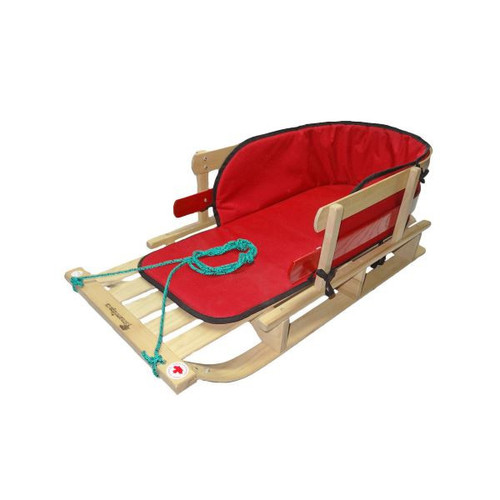 Vintage XL Sleigh With Red Pad by Streamridge - Ships in Canada Only