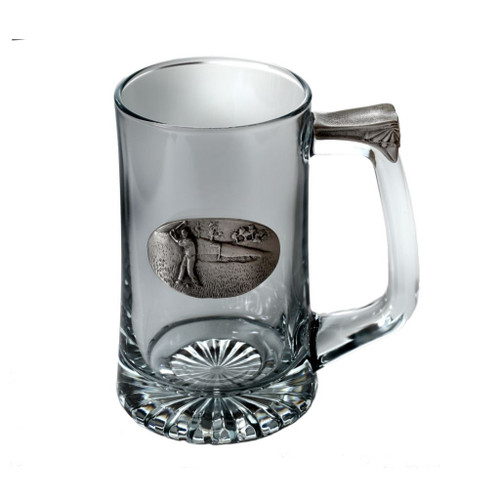 Male Golfer Tankard by Pewterglass