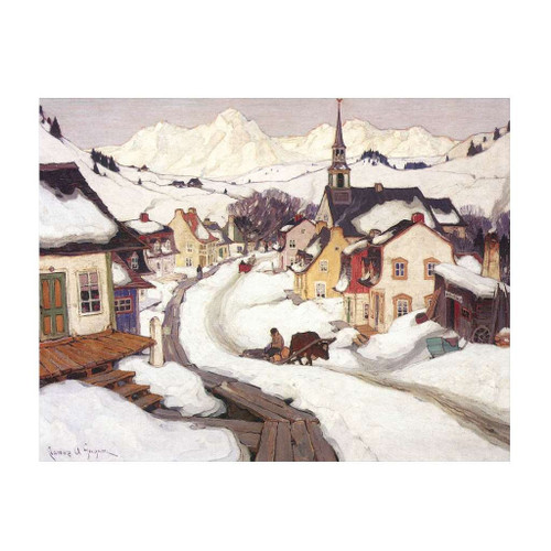 Village In The Laurentian Mountains (Group Of Seven) by Clarence Gagnon