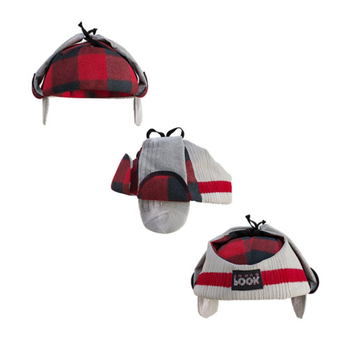 Beaver Hunter Hat (Red Plaid Reversible) Red Plaid by Pook - Ships in Canada Only