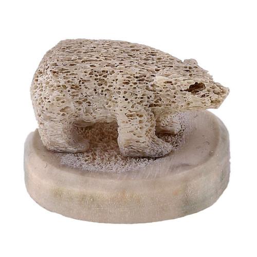 Inuit Polar Bear Sculpture 1 by Sandy Maniapik