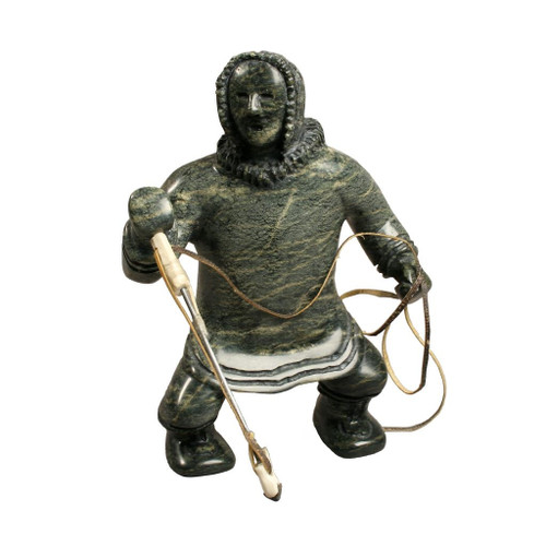 Inuit Hunter Sculpture by Pudloo Jaw