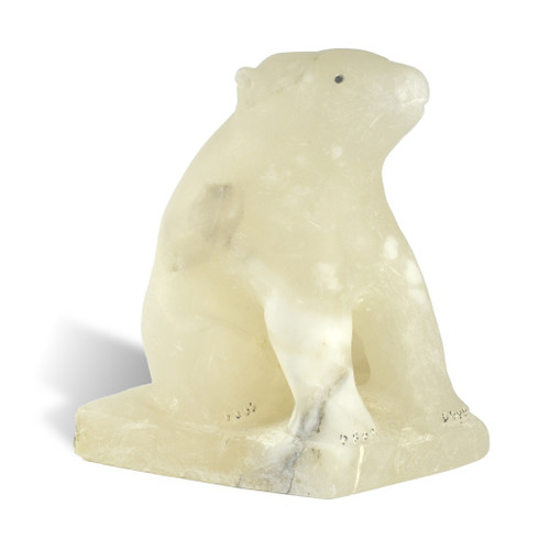 Inuit Polar Bear Sculpture 2 by Eugene Ipkarnak