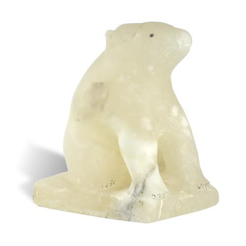 Inuit Polar Bear Sculpture 2 by Eugene Ipkarnak