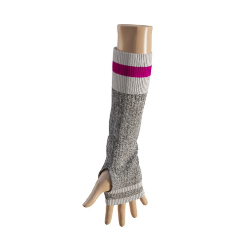 Elbow Highs (Grey / Pink Trim) Pink Trim by Pook