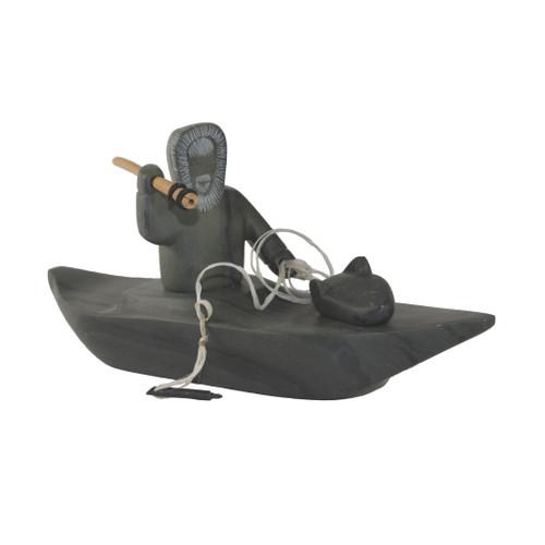 Inuit Kayak Sculpture 2 Davidee Kavik by Davidee Kavik