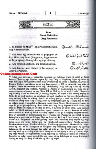 Quran In Filipino Language (Arabic To Filipino Language)