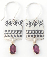 Earring Pattern with Garnet