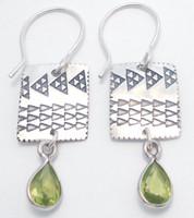 Earring Pattern with Peridot