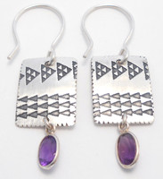 Pattern Earring with Amethyst