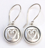"""Heart Protect Box Earring with """"Protect this Woman"""" on the rim."""