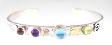 A PROTECT THIS WOMAN BRACELET, BLUE TOPAZ