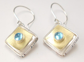 PROTECT SQUARE BOX EARRING