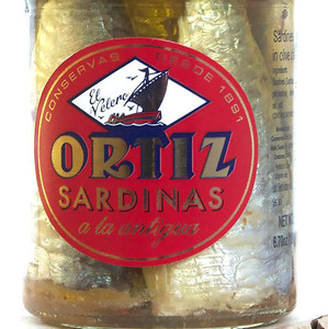 Traditional Pilchards sardines by Ortiz