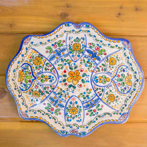 Pottery Ornate Tray by Ceramica Cruz