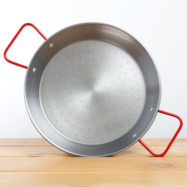 Paella Pan 15 inch Polished Steel