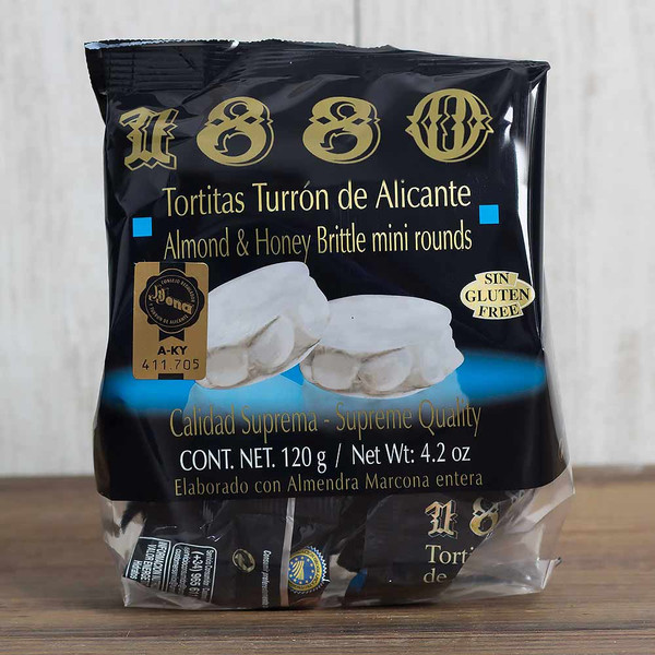 Tortitas Alicante mini Brittle Cakes by 1880