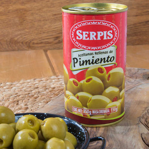 Manzanilla olives stuffed with Red Pepper by Serpis