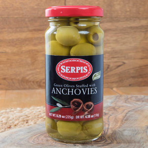 Green Spanish  Olives stuffed with Anchovies by Serpis