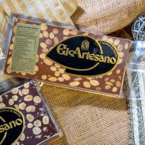 Chocolate and Almonds  Nougat - Turron Chocolate Almendras by El Artesano