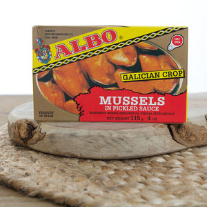 2 Tins of Mussels in Pickled sauce by Albo