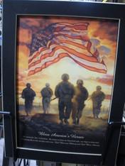 Bless America's Heroes Print
